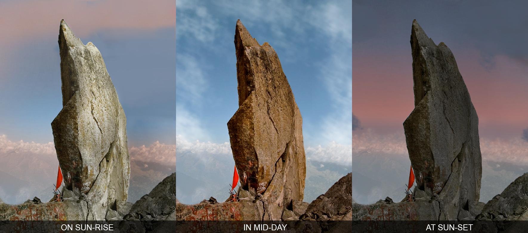colors of Kinnaur Shivling Rock
